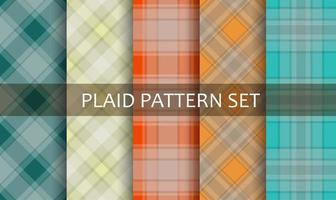 Plaid Various Colorful Patterns Set
