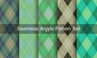 Seamless Diamond Pattern Set vector