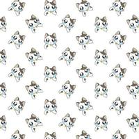 Cartoon Crying Cats Pattern