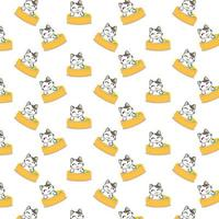 Cartoon Cats Bathing Pattern