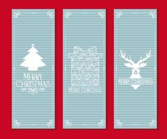 Light Blue Merry Christmas Card Set