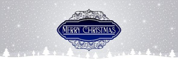 ''Merry Christmas'' Snowy Message Banner
