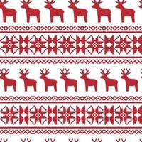 Seamless Nordic Christmas pattern.