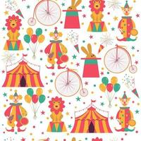Seamless pattern with circus characters.
