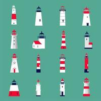 Set of lighthouses. vector