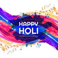 Happy holi colorful splash festival card