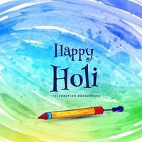 Holi celebration wishing card with pichkari