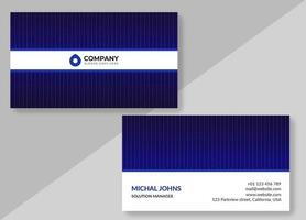 Glowing Purple Striped Business Card