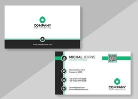 White Business Card with Black Borders