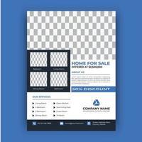 Real Estate Elegant Flyer Template vector