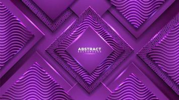 Purple diamond composition with geometric shapes vector