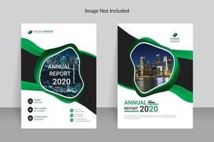 Business Green and White Annual Report Template Design