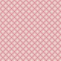 Traditional Pink Fair Isle Pattern vector