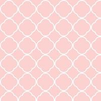 Seamless Pink White Connecting Shapes Pattern