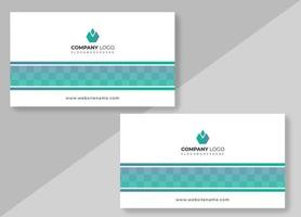 Clean Line Light Business Card Design Template