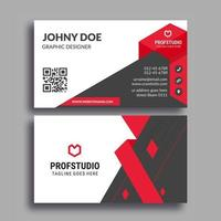 Red and Black Simple Modern Corporate Card Template