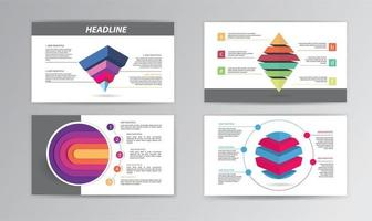 Infographic Timeline Template with Colorful Stacked Shapes