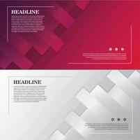 Dynamic Shape Banner Set