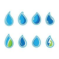 Water drop icon set with outline vector