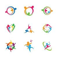 Business people teamwork icon set vector