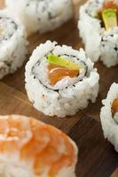 Healthy Japanese Salmon Maki Sushi