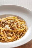 spaghetti a la boloñesa foto
