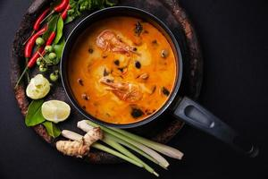 Thai soup Tom Yam photo