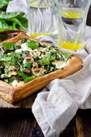 Tart with spinach, chard and cheese photo