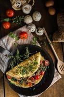 rustikales Omelett