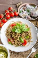 Pasta with Milan pesto photo