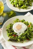 scafata saludable con huevo escalfado