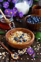desayuno saludable de granola