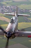 Battle of Britain Memorial Flight BBMF Spifire Hurricane flight Aerial