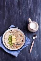 muesli with fruits photo