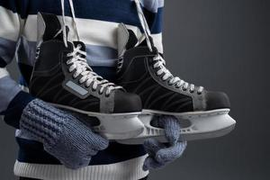 Hockey skates photo