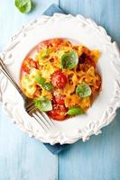 Farfalle with cherry tomatoes,parmesan and basil