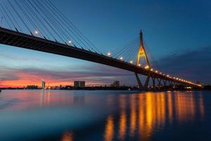 luz de la noche de bangkok