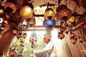 lámparas turcas tradicionales