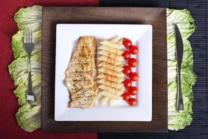 pollo y pasta