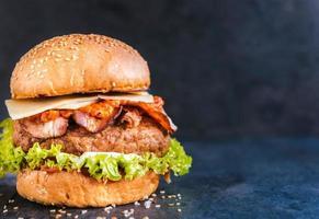 Beef burger photo