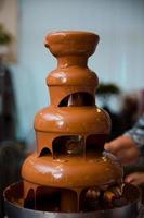 la fondue de chocolate foto