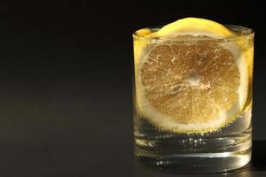 Lemon soda in glasses