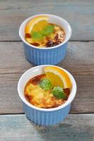 The creme brulee with orange photo