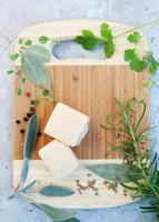 Parmesan cheese, top view photo