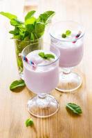 Milkshake on the table photo