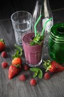 Fresh berry smoothie photo