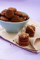 galletas dobles de chocolate foto