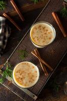 Cold Refreshing Eggnog Drink photo