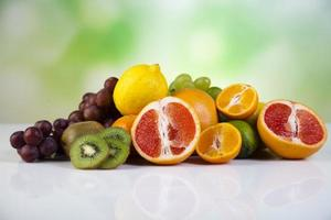 Fruits, vegetables, fruit juices, vegetable juices, healthy food photo