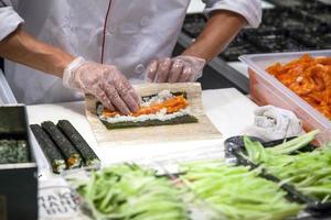 making sushi photo
